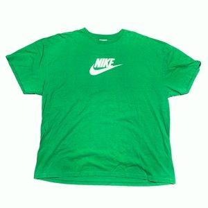 Vintage 00s Nike Center Swoosh Green T Shi…